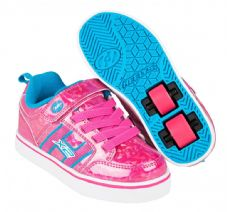 Heelys X2 Bolt Plus Hot Pink Hologram/Neon Blue